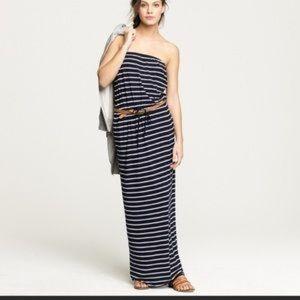 J. Crew | Strapless Striped Maxi Dress